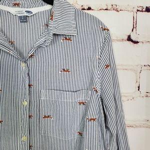 Old Navy Fox Pin Stripe Buttondown size M